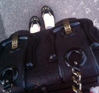 Fendi B Bag / ASOS Little Miss rabbit flats