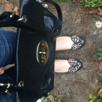 Hobbs Lanesley Bag / London Sole Leopard Love Heart Flats