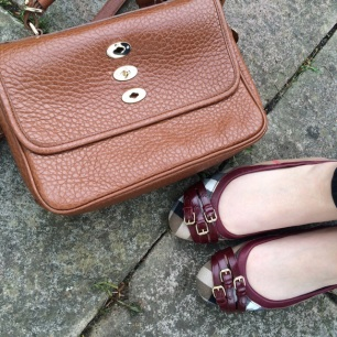 Mulberry Bryn / Burberry Bridle House Check Ballerinas