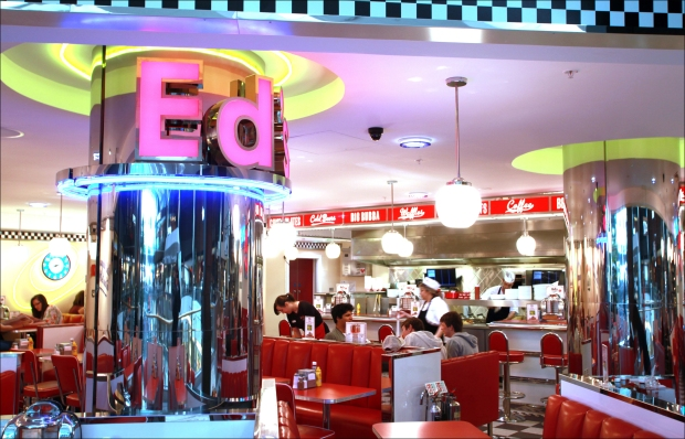 Ed's Easy Diner in the food hall at WestQuay Shopping Centre, Southampton. Monday 20th May 2013.