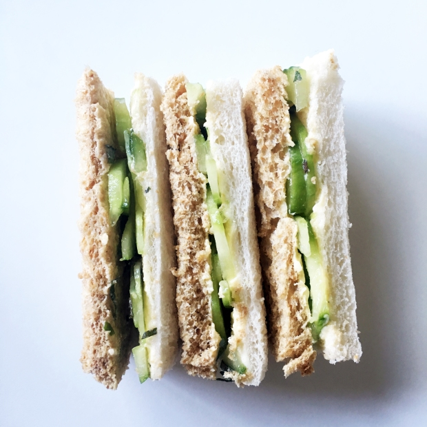 Cucumber and mint sandwiches