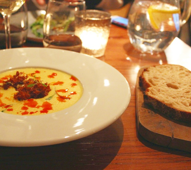 Soup and bread White Star Tavern Southampton Restaurant Review Food Fash Fit