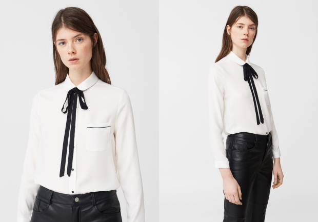 Mango Bow Neck Shirt main.jpg