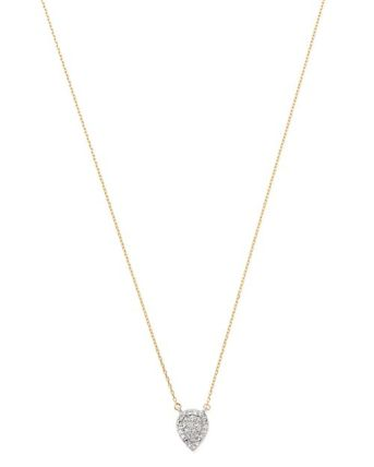Adina Reyter Solid Pave Teardrop Necklace Duchess of Sussex Meghan Markle
