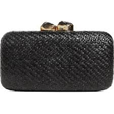 Kayu Anna Black Straw Clutch Duchess of Sussex Meghan Markle