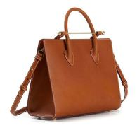 Strathberry Midi Tote Tan Bridle Leather